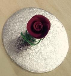 Burgundy 2.2cm Rosebud