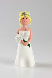 Claydough Blonde Bride - Standing 120mm