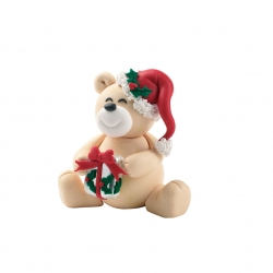 Claydough Christmas teddy - 62mm