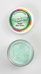 Rainbow Dust Sparkle Pastel Baby Green