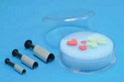3 pc Heart ejector set