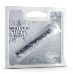Rainbow Dust Edible Silver Stars