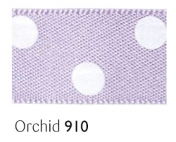 Orchid 15mm polka dot ribbon - 20 meter reel