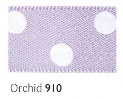 Orchid 15mm polka dot ribbon - 20 meter reel