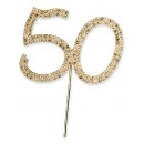 Diamante Gold 50 On A Gold Stem