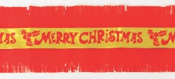 Merry Christmas frill 83mm Per meter