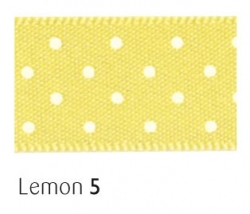 Lemon 15mm micro dot ribbon - 20 meter reel