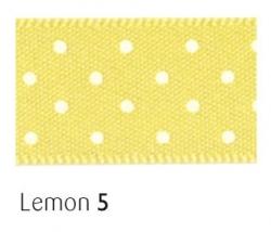 Lemon 15mm micro dot ribbon - 20 meter reel