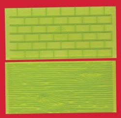 Tree Bark & Brick Wall impression pads