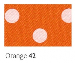Orange 25mm polka dot ribbon - 20 meter reel