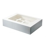 White 12 Hold Cupcake Box