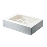 White 12 Hold Cupcake Box