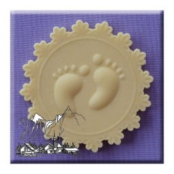 baby feet cupcake topper