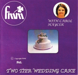 2 Tier Wedding cake - instructional DVD