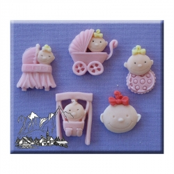 Baby girl moulds