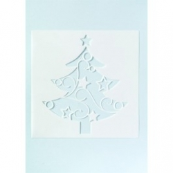 Large Christmas Tree Cake Stencil - 135mm x 118mm
