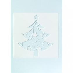 Large Christmas Tree Cake Stencil - 135mm x 118mm