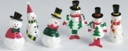 assorted snowmen on pic