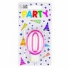 Party Candles/ Number 0 Pink