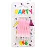 Pink Spiral Party Candles