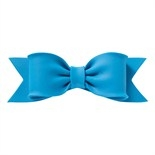 Gumpaste Bow Primary Blue 150 x 50mm