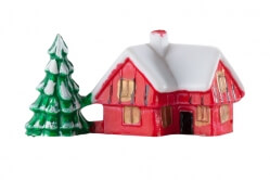 Plastic house with tree