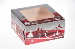 Christmas Cake Boxes - 203 x 203 x 101mm