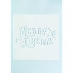 Large Merry Christmas Stencil - 140mm x 75mm
