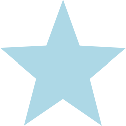 Baby Blue Flower Paste Star