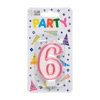 Party Candles/ Number 6 Pink