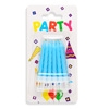 Blue Spiral Party Candles