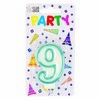 Party Candles/ Number 9 Blue