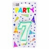 Party Candles/ Number 7 Blue
