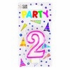 Party Candles/ Number 2 Pink