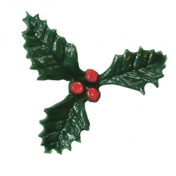 Plastic Holly with Red Berry