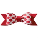 Gumpaste Bow Single Red Primary Dot