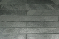 Strip Cladding Calibrated Cleft Slate Black