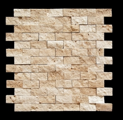 Mosaic, Splitface Travertine
