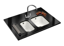 Franke by Villeroy & Boch VBK 110 21 + VBK 110 33 Ceramic Sink