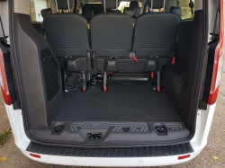 rear inside view of a white van