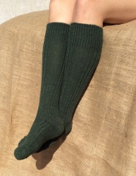 Alpaca Long Boot Socks Green 8-10
