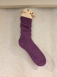 Alpaca Socks Damson Plain 8-10