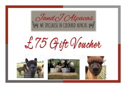 JandJ Alpacas Gift Voucher - £75