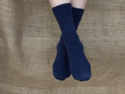 Alpaca Socks - Navy Plain 4-7