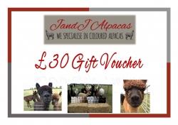 JandJ Alpacas Gift Voucher - £30