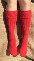Alpaca Welly Socks Red 4-7
