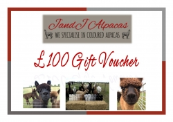 JandJ Alpacas Gift Voucher - £100