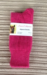 Alpaca Socks Shocking Pink 4-7