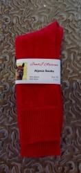 Alpaca Socks Red Plain 11-13