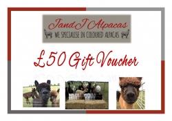 JandJ Alpacas Gift Voucher - £50